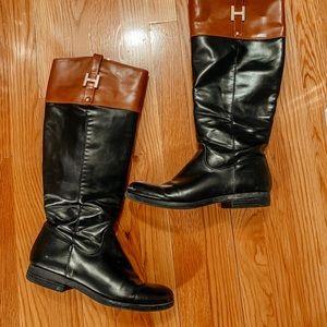 Tommy Hilfiger color block boots